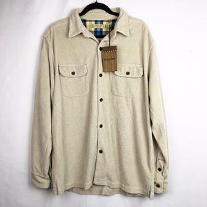 True Grit Long Sleeve Knit Corduroy Shirt M - NWT
